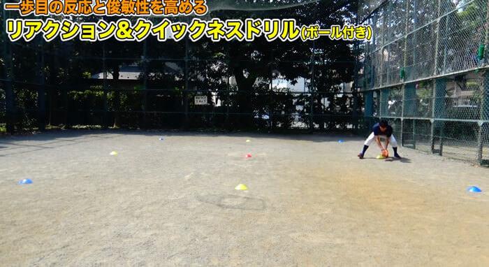 ボールを捕球している画像