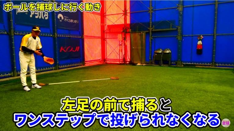 ボールを横に取りに行くのではなく、斜め前に取りに行く練習を繰り返す