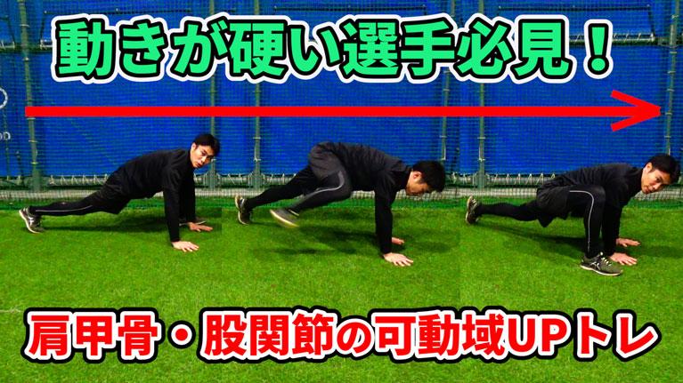 這う動きの中で、関節の可動性を大きくしていこう!